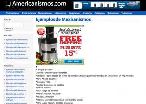 Mexico Spanish Slang Americanismos