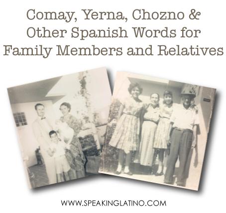 Spanish Words for Family